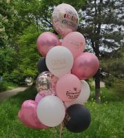 Фонтан из шаров с днем рождения красотка