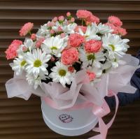 Цветочная- композиция в нежно розовых оттенках